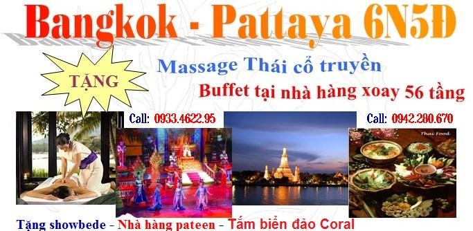 Du lịch Thái Lan giá rẻ 120usd khách sạn 5 sao