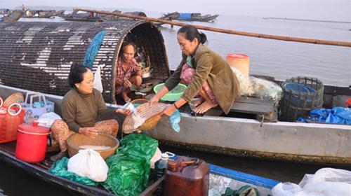 Chợ nổi trên Phá Tam Giang tỉnh Thừa Thiên Huế