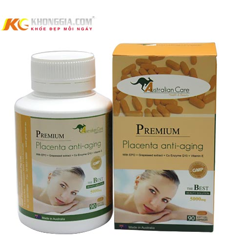 Viên uống chống lão hóa và trị nám- Premium Placenta anti aging