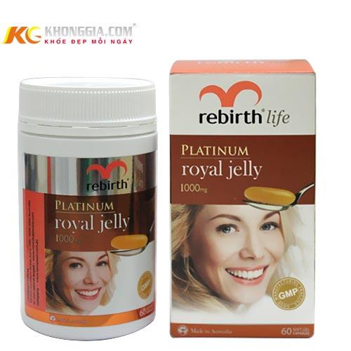 Viên Uống sữa ong chúa- Rebirth Platinum Royal Jelly 1000 mg