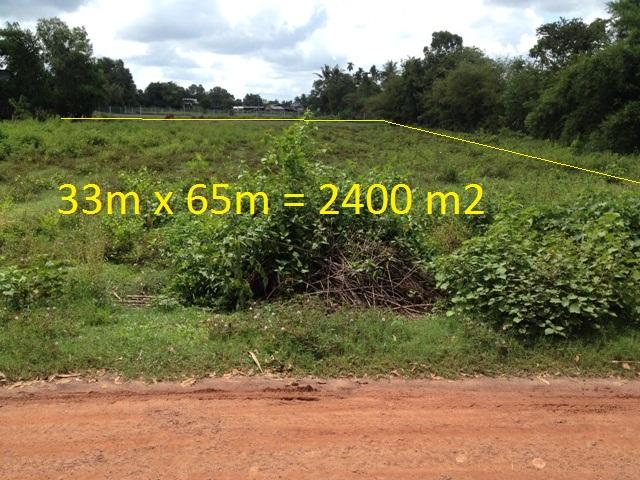 Bán đất vườn trang trại xã Phước Thạnh Củ Chi 2.400 m2 (33m x 65m) giá 720 triệu