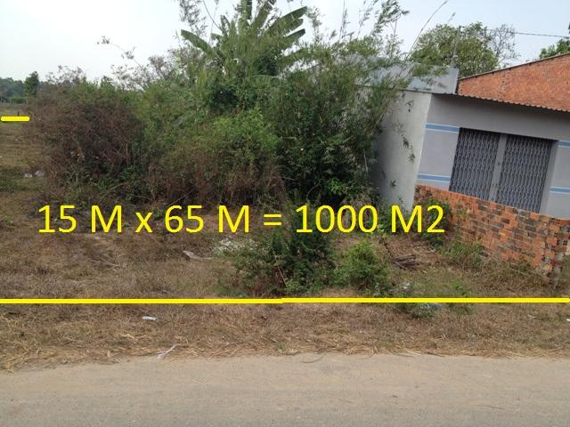 Bán  1.000 m2 đất mặt tiền đường nhựa xã Phước Thạnh Củ Chi giá 500 triệu.