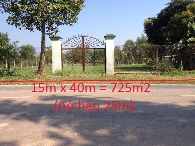 725 m2 đất mặt tiền tỉnh lộ 7 xã Thái Mỹ Củ Chi giá 47 triệu 1 mét ngang